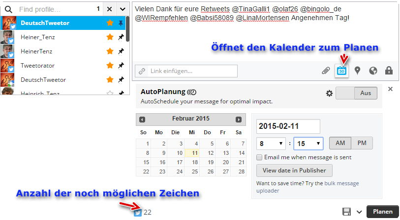 HootSuite-TweetEinzelnPlanen
