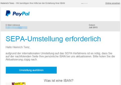 PayPal Phishing Mail1