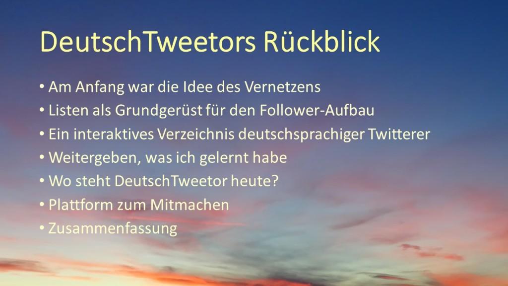 DeutschTweetors Rueckblick